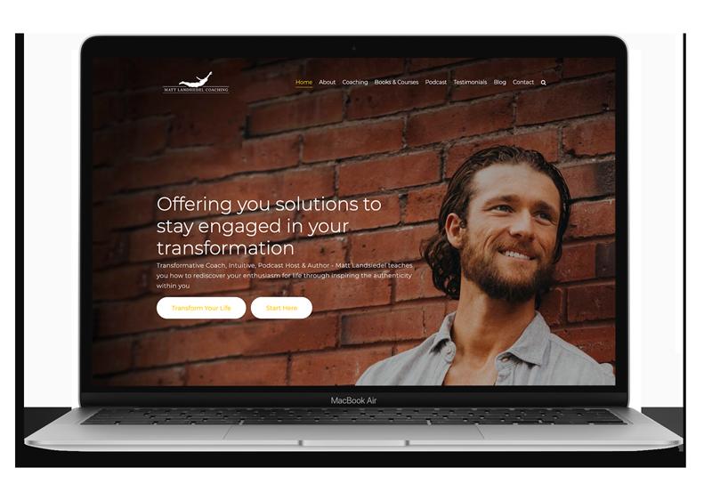 Website Design & Development for Matt Landsiedel