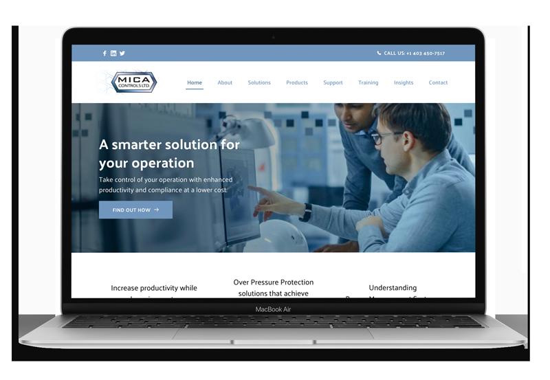Website Design & Development for MICA Controls