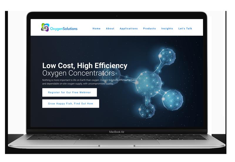 Website Design & Development for OSI Oxygen