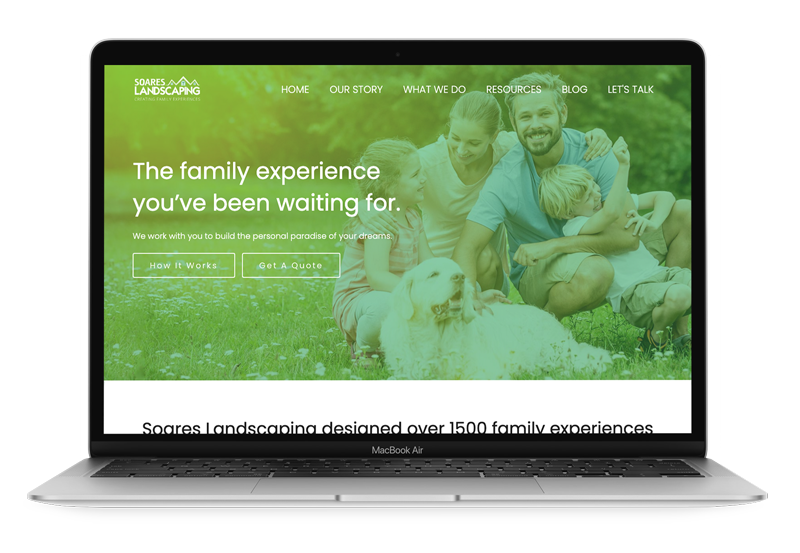 Website Design & Development for Soares Landscaping