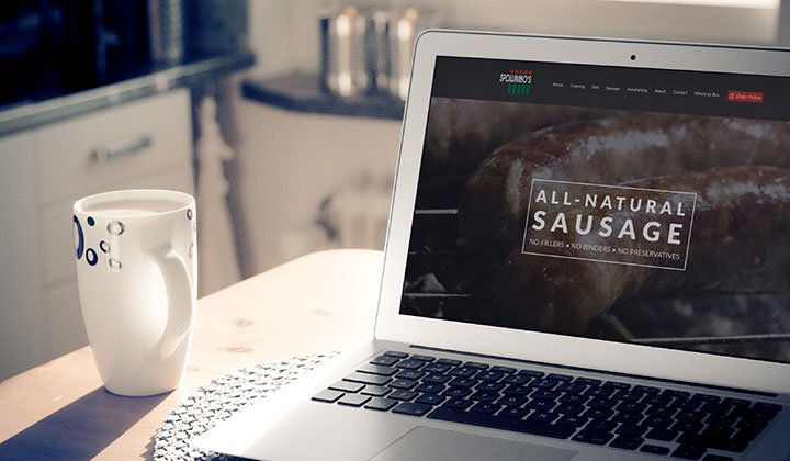 Website Design for Spolumbp's Fine Foods & Deli