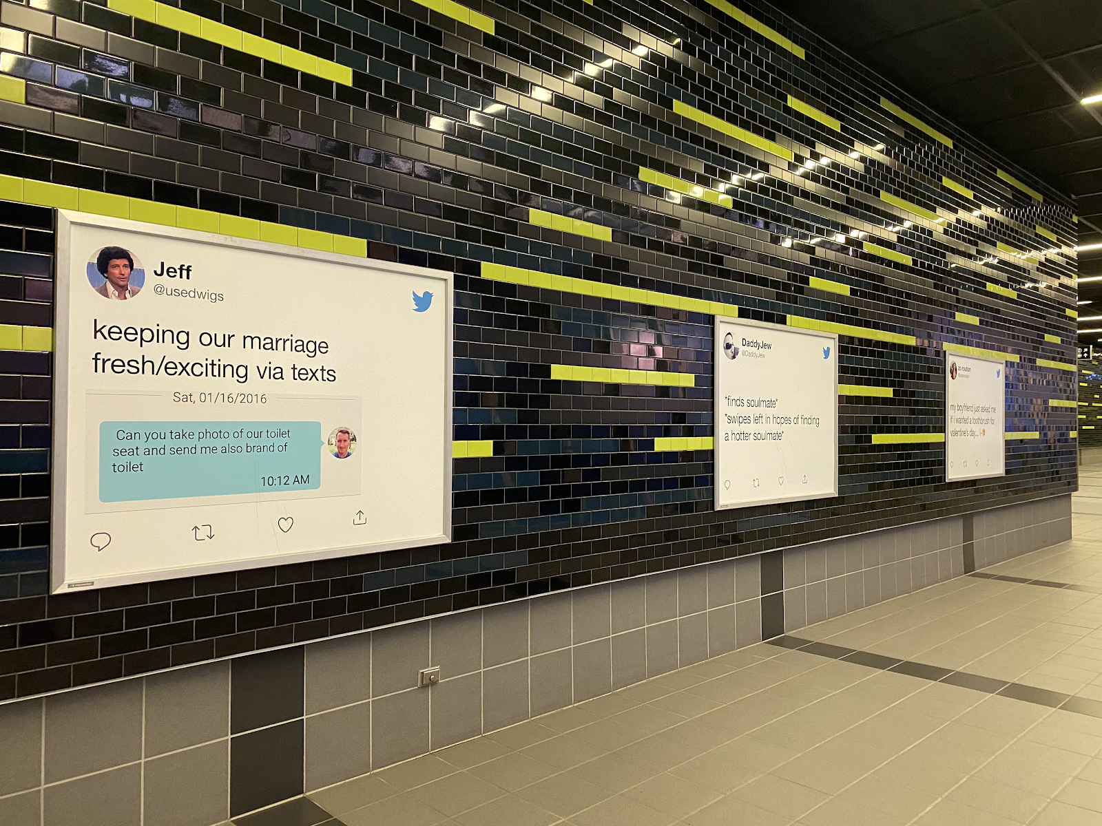 #LoveTwitter Campaign Posters in Seattle Subway