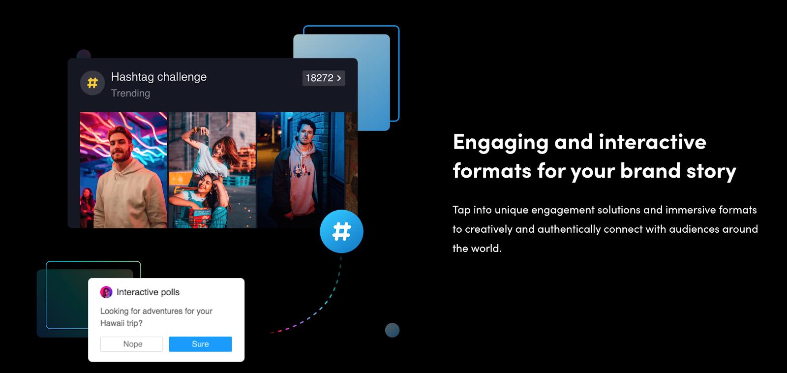 TikTok Example Hashtag Challenge Ad